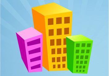 Cartoon Buildings - vector gratuit #145309