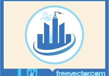 Skyscrapers Vector Icon - Kostenloses vector #145319