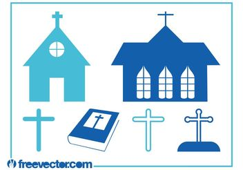 Christianity Graphics Set - vector #145359 gratis