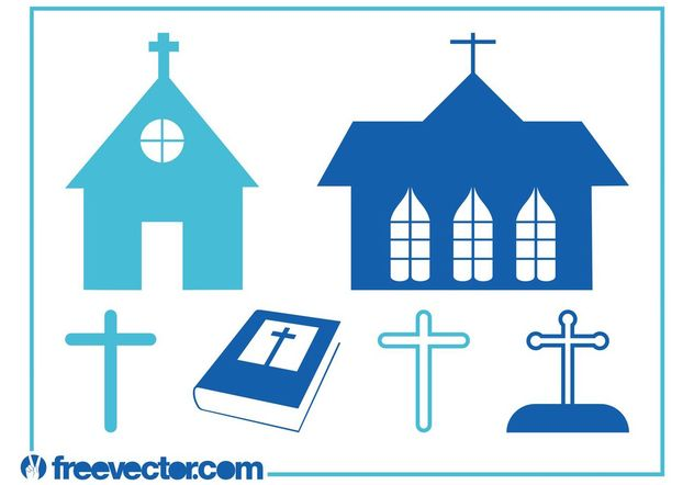 Christianity Graphics Set - Free vector #145359