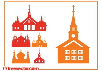 Churches Silhouettes - vector gratuit #145369