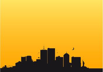 New York Skyline - vector gratuit #145399