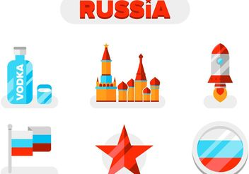 Vector Russia Icons Pack - vector gratuit #145409