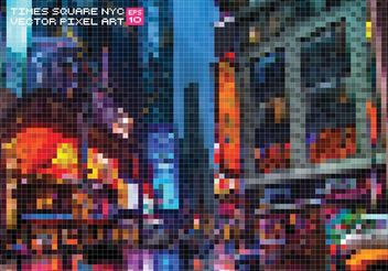 Free Vector Pixelate Times Square Background - Free vector #145419