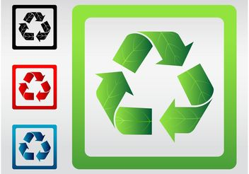 Recycle Signs Vector - vector #145539 gratis