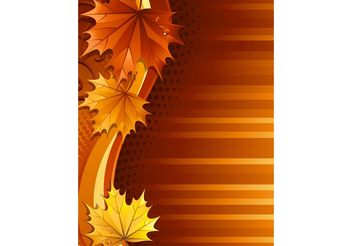 Autumn Leaf Background - Free vector #145659