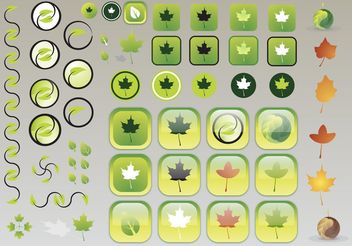 Leaf Icons - vector #145679 gratis