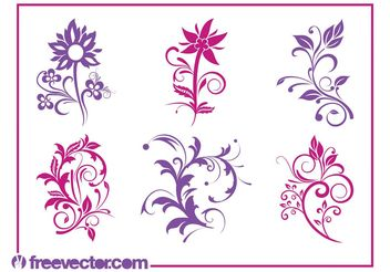 Flowers Graphics Set - Kostenloses vector #145779