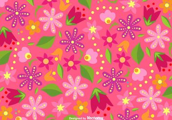 Bright Floral Background Vector - бесплатный vector #145789