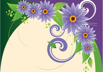 Background With Purple Flowers - vector gratuit #145799