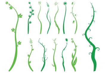 Waving Plants Silhouettes - Free vector #145819