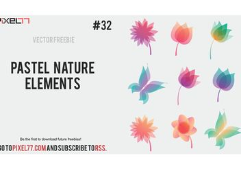 Pastel nature elements - vector gratuit #145849