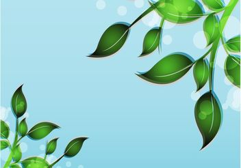 Fresh Leaves Decoration - Free vector #145879