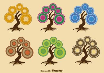Abstract Seasonal Trees - vector gratuit #145929