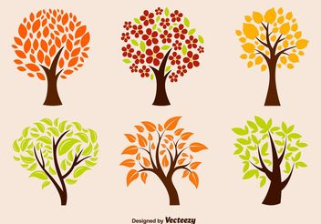 Eco Tree Vectors - бесплатный vector #145939