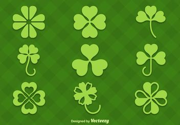 Clovers Vector Silhouettes - Kostenloses vector #145959