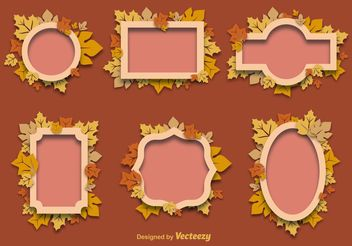 Autumn Decorative Frames - vector gratuit #145999