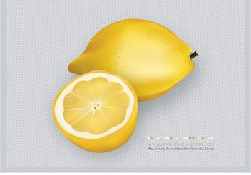 3D Lemons Fruit Vector - Free vector #146089