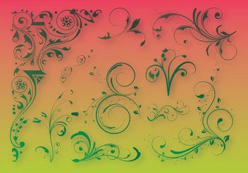 Floral Decoration Graphics - Kostenloses vector #146229