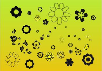 Flower Elements Clip Art - Free vector #146319