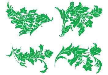 Swirling Flowers Set - Kostenloses vector #146409