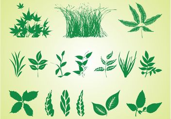 Plant Silhouettes Free Graphics - бесплатный vector #146499