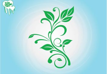 Fresh Plant Silhouette - Kostenloses vector #146509