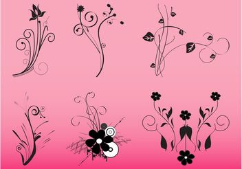 Decorative Flowers Graphics - Free vector #146539