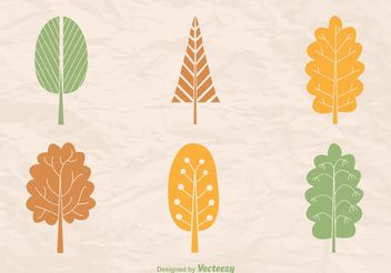 Abstract Tree Silhouette Vectorss - Free vector #146559