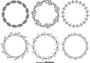 Hand Drawn Decorative Frames - Free vector #146569