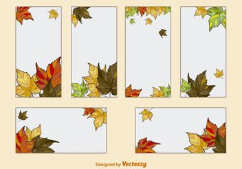 Autumn Leaves Card Template Vectors - Kostenloses vector #146599