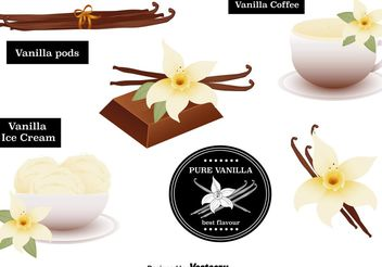 Vanilla Flower Vectors Set - Free vector #146649