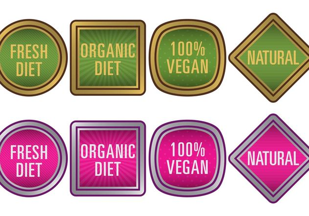 Natural Food Vector Badges - Free vector #146679