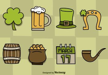 St. Patrick's Day Vector Icons - бесплатный vector #146689