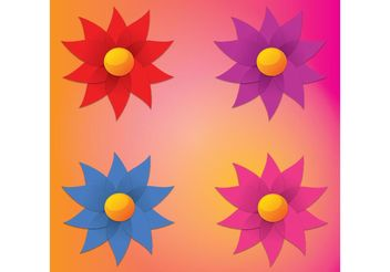 Simple Flowers - vector gratuit #146739