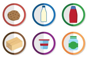 Vector Food Icons - vector gratuit #146779