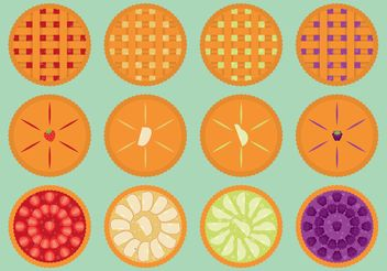 Fruit Pie Vectors - Free vector #146789