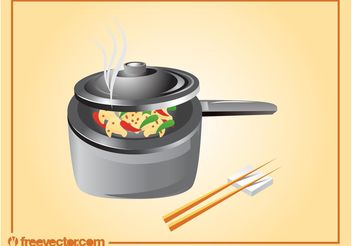 Asian Cooking - Free vector #146869
