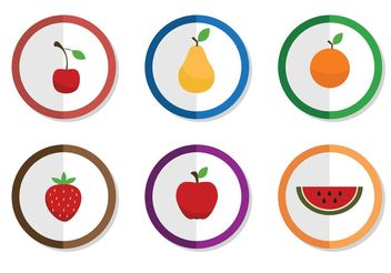 Free Vector Fruit Icons - vector gratuit #146919