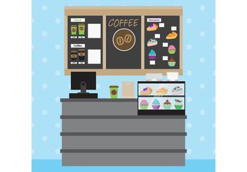 Coffee Shop Restaurant Interior - vector gratuit #146939