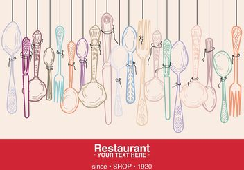 Restaurant Card - vector gratuit #146949