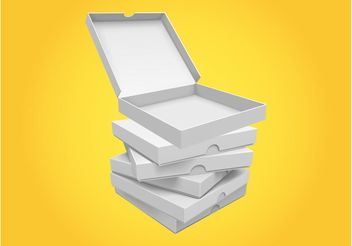 Pizza Boxes - vector gratuit #146979