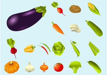 Vegetables - Kostenloses vector #147029