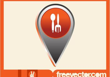 Food Pointer Icon - Free vector #147039