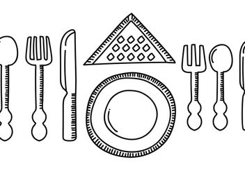 Dinner Set Table Vector - Free vector #147059