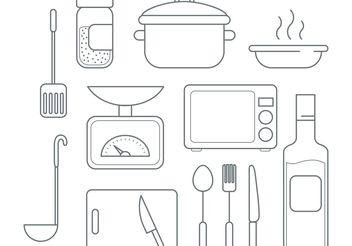 Vector Cooking Icons - vector gratuit #147069