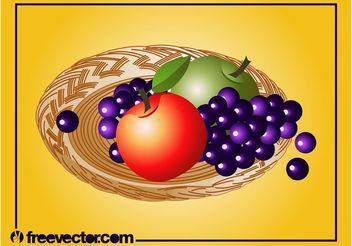 Fruit Plate Vector - Free vector #147099