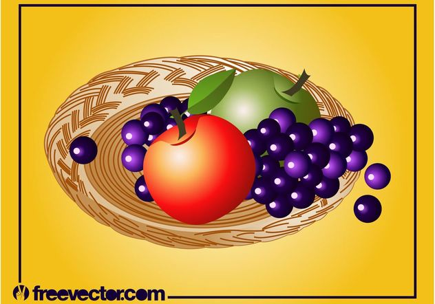 Vecteur de plaque de fruits - vector gratuit #147099