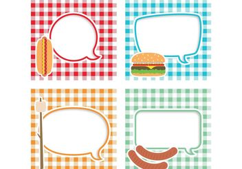 Picnic Vector Text Bubbles - Free vector #147149