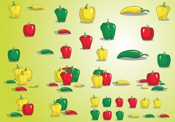 Peppers - vector gratuit #147219